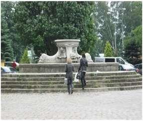 Fontanna na Placu Słowiańskim w Elblągu