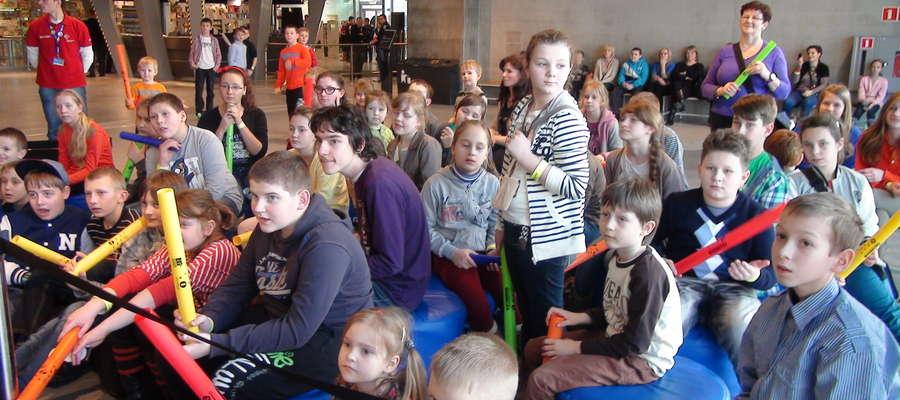 Dzieci ze szkoły w Chamsku w Centrum Nauki Kopernik