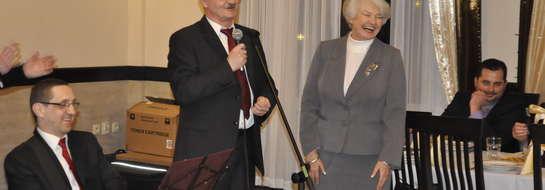 """""""Panie burmistrzu, nie wiedziałam, że może pan tak długo"""" – żartowała, odnosząc się do przemówienia burmistrza, Krystyna Łybacka"""