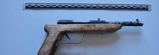 Broń zabezpieczona przez policję