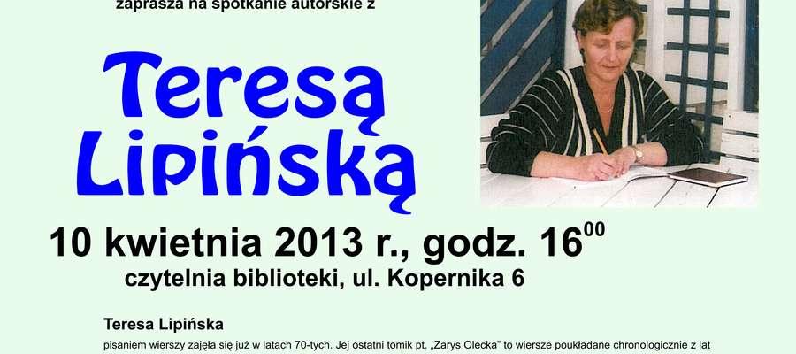 Spotkanie Autorskie Z Teresą Lipińską Olecko