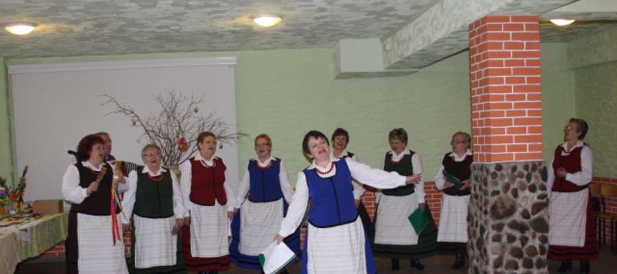W trakcie wystawy wystąpił zespół Warmianki Sępopolskie