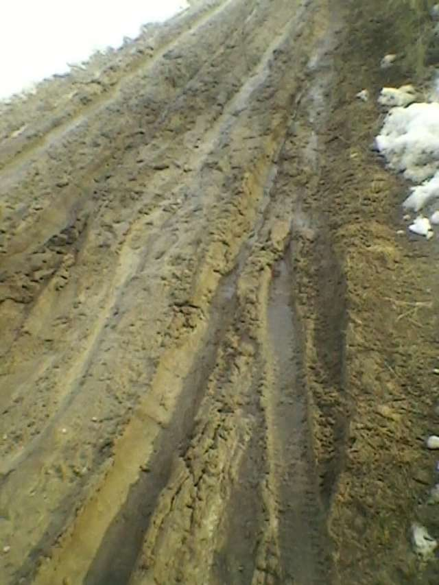 Tak wyglądała droga z Mikołajek do Jeziora Skarlińskiego w miniony wtorek