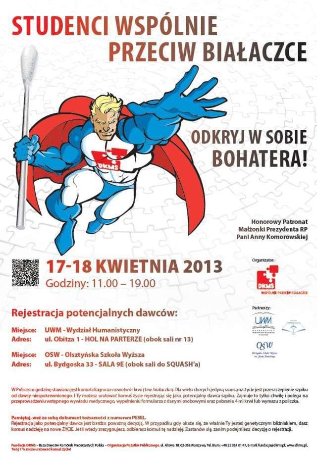 Superman, bohater...student! Wyjątkowa akcja - full image