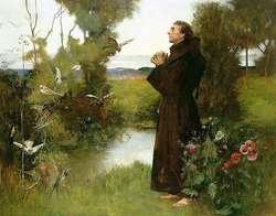 Obraz przedstawiający postać św. Franciszka z Asyżu.