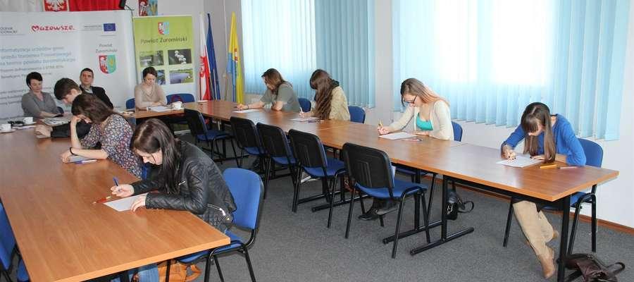 Finał konkursu ortograficznego w Starostwie Powiatowym
