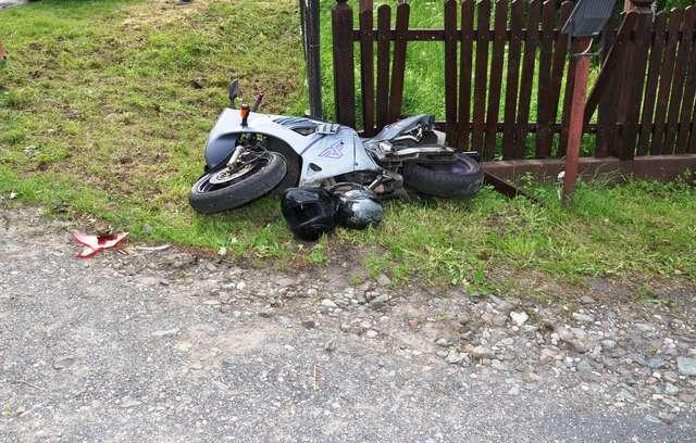 BMW zderzyło się z motocyklem