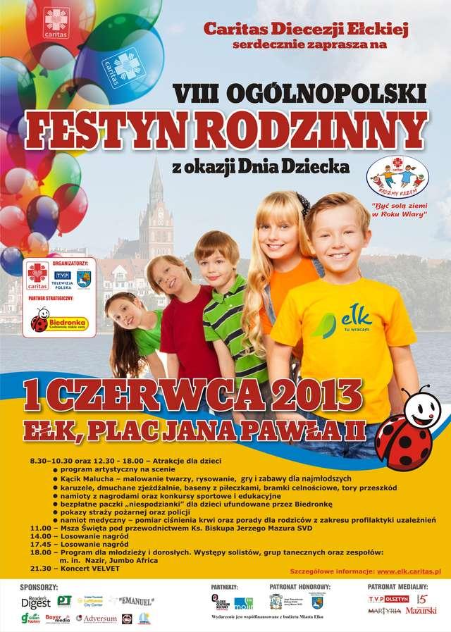 VIII Ogólnopolski Festyn Rodzinny z okazji Dnia Dziecka  - full image
