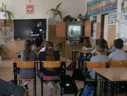 Lekcja z policjantem w Rościszewie