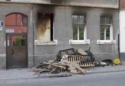 Pożar wybuchł w niedzielę rano w mieszkaniu na parterze