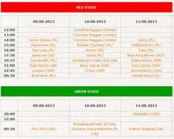 Program Ostróda Reggae Festival 2013