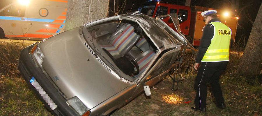 Wypadek na Złotej w Olsztynie.