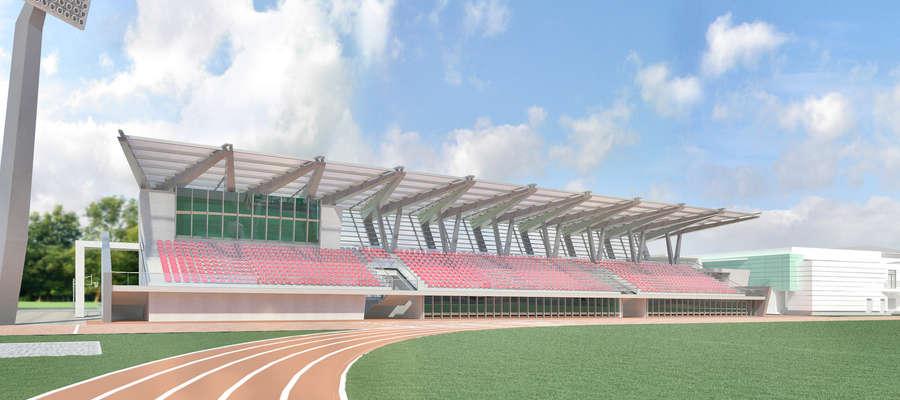 Tak ma wyglądać trybuna stadionu przy ulicy Żeromskiego