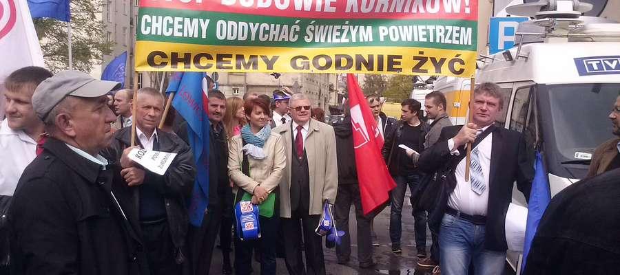 Sołtys i radny protestują w Warszawie