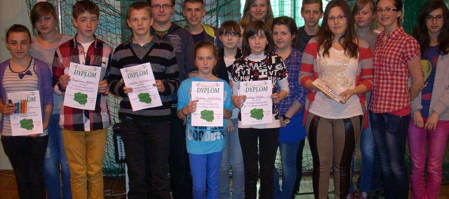 Gimnazjaliści z Lutocina – laureaci konkursu