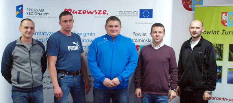 Jacek Kołodziejski (pierwszy z prawej) jest nowym szefem związku
