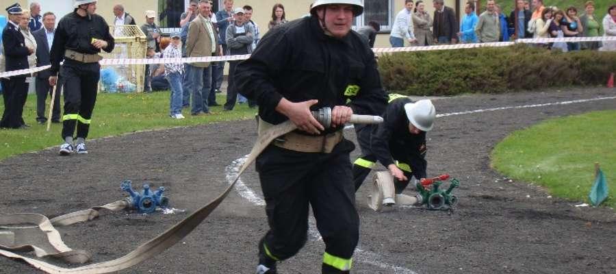 Strażacy ochotnicy z gminy Kurzętnik znów będą rywalizować na stadionie
