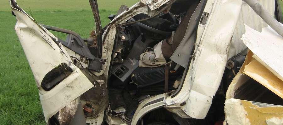 Do zdarzenia doszło w piątek (10 maja) nad ranem na drodze krajowej nr 58