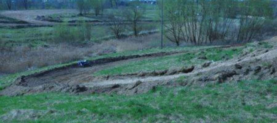 Tor motocrossowy,  na którym doszło do wypadku