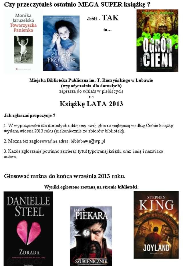 Wyniki plebiscytu na Książkę Wiosny