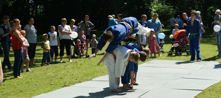 Podziw zebranych wzbudzili także młodzi braniewscy judocy, którzy dali popis swoich umiejętności