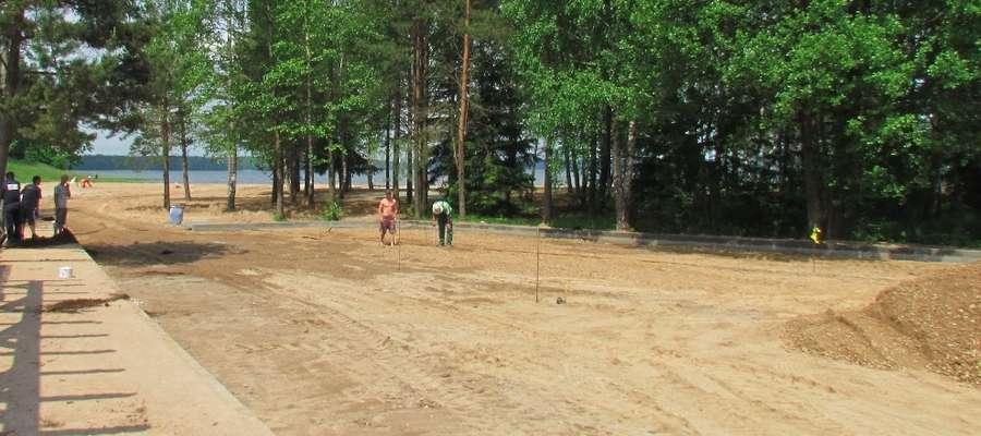 Prace na plaży w Kruklankach będą trwały do końca czerwca