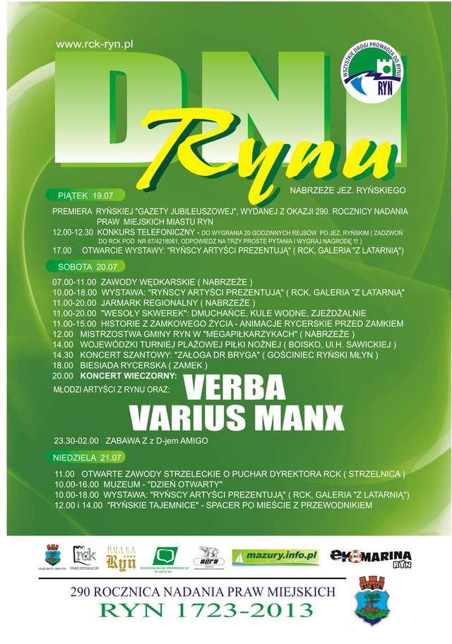 Varius Manx gwiazdą Dni Rynu - full image