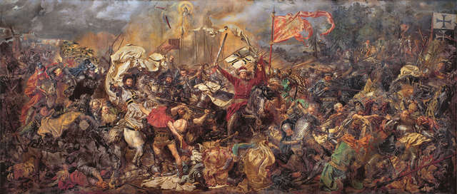 Bitwa pod Grunwaldem - obraz Jana Matejki w Muzeum Narodowym w Warszawie. - full image