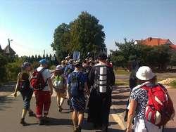 W środę rano pątnicy wyruszyli do Jabłonowa Pomorskiego