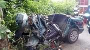 Wypadek pod Braniewem. Na miejscu zginęły dwie osoby