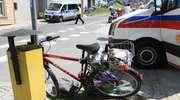 Rowerzysta potrącony na ścieżce rowerowej