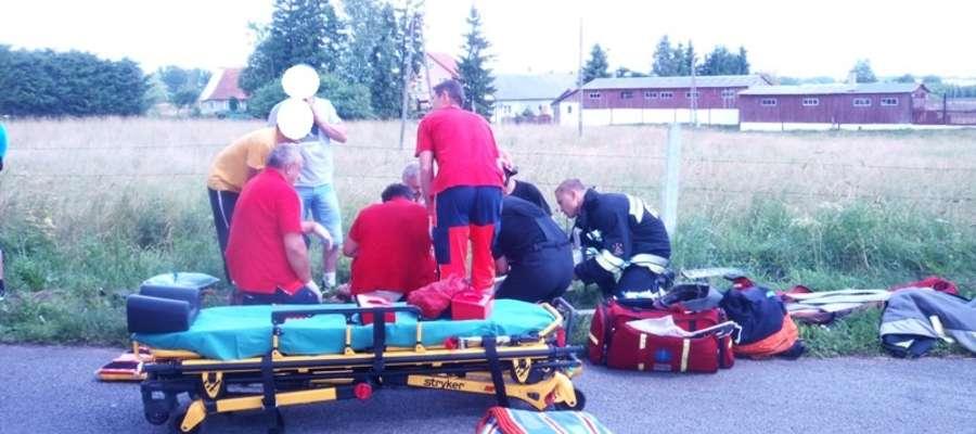 Do wypadku doszło 6 lipca około godziny 11.00 w pobliżu Piotrowca (gm. Pieniężno)
