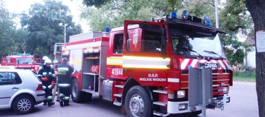 Na miejsce pożaru przybyli strażacy-ochotnicy z jednostek OSP: Frombork, Wielkie Wierzno oraz Jędrychowo