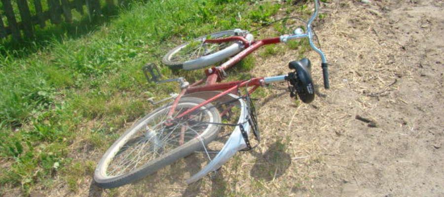 Rower potrąconego 70 latka