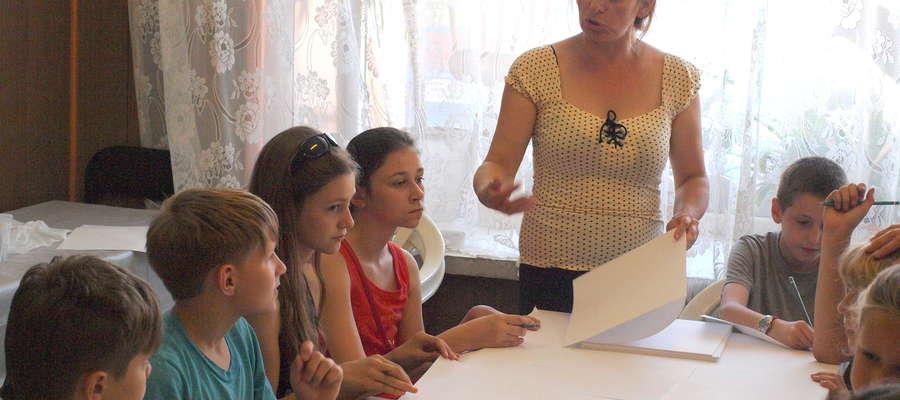 Dzieci chętnie brały udział w warsztatach