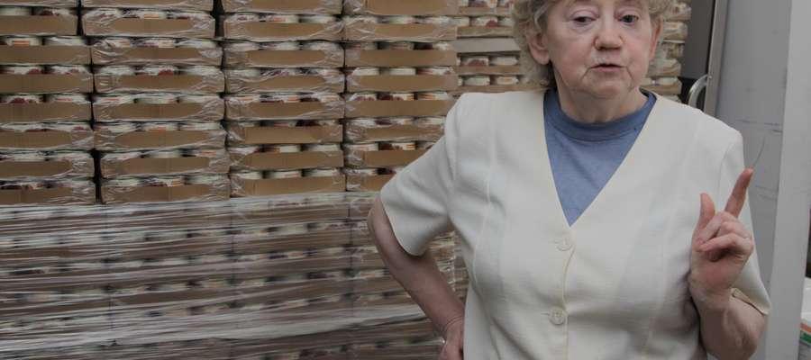 Rocznie rozdajemy około sto ton żywności — mówi Teresa Bocheńska, prezes Banku Żywności w Elblągu