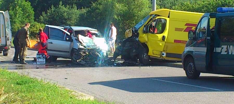 Do wypadku doszło nw miejscowości Wierzbiny