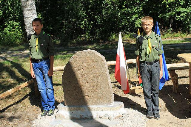 Harcerska warta przy kamieniu - full image