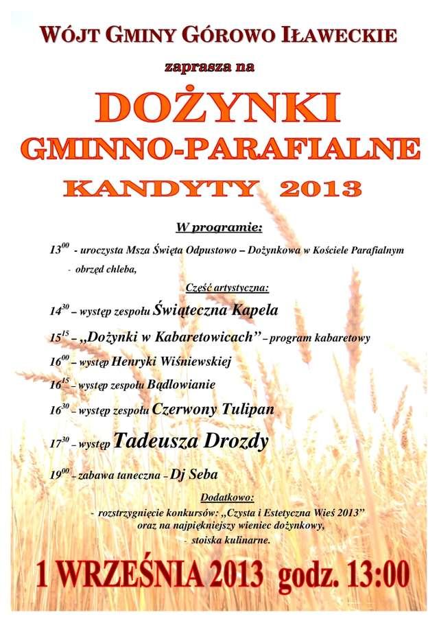 """Dożynki Gminno - Parafialne w Kandytach z """"Czerwonym Tulipanem""""  i Tadeuszem Drozdą  - full image"""