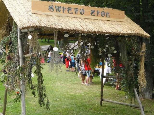 Jedno ze stoisk podczas Regionalnego Święta Ziół w 2012 roku - full image