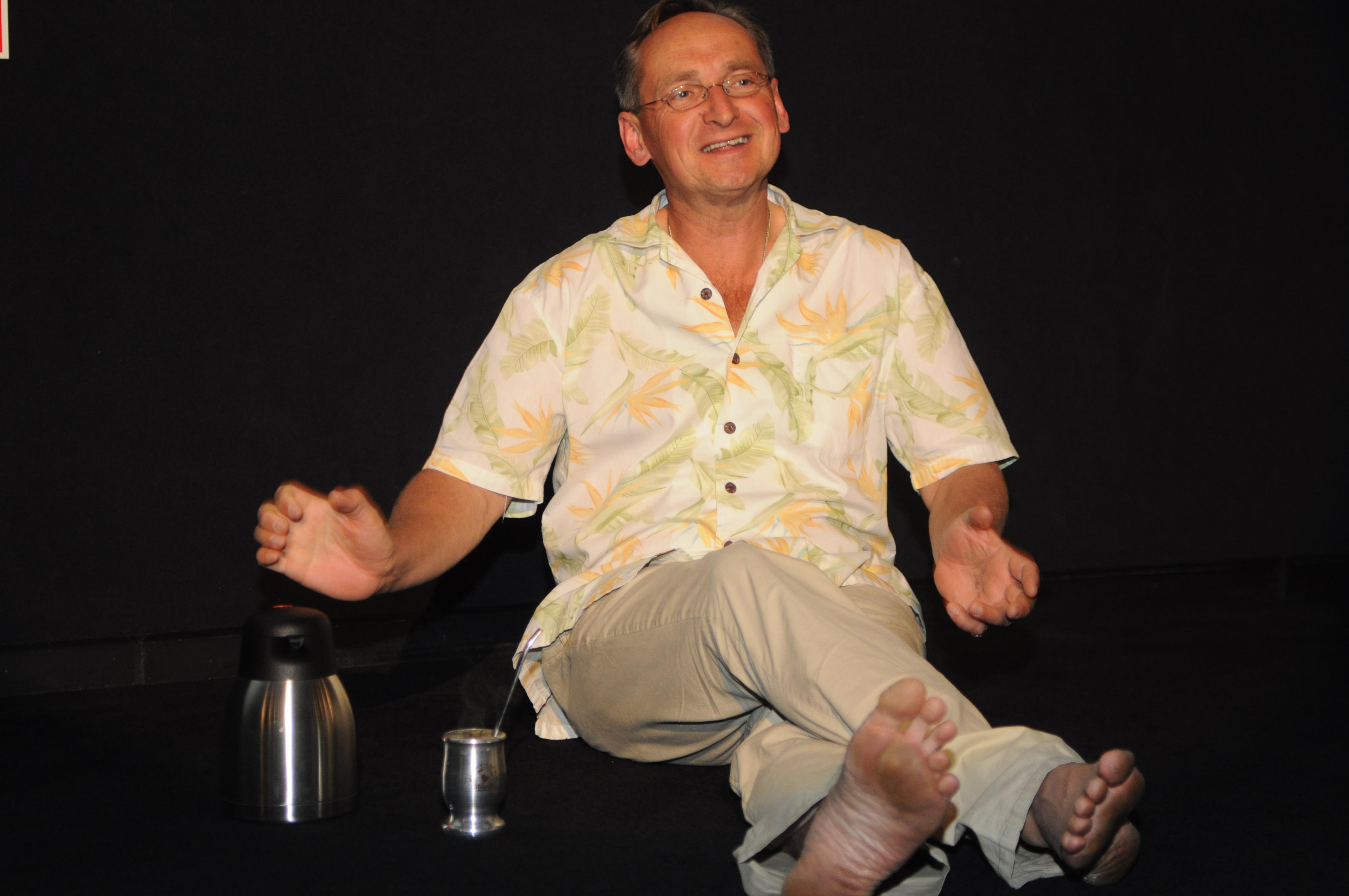Wojciech Cejrowski podczas wtorkowego spotkania w Elblągu