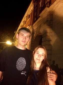 Kamil Rydel z dziewczyną