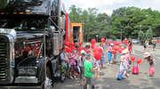 Wielki truck z miłośnikami kotów i psów w Elblągu