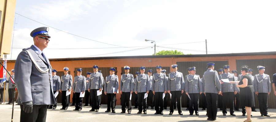 Policjanci podczas uroczystości Święta Policji
