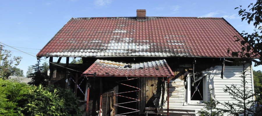 Dom w Kliczewie spłonął doszczętnie
