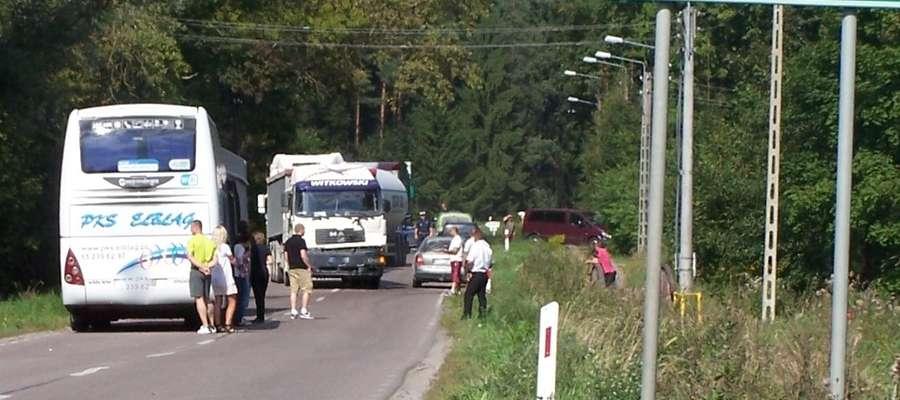 Do kolizji doszło w Wydminach, na drodze wylotowej w kierunku Suwałk