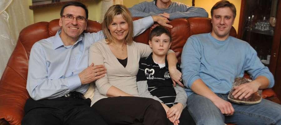 Prezydent Grzymowicz z rodziną