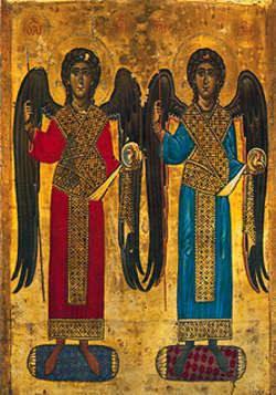 Archaniołowie: Michał i Gabriel, ikona z XII w.