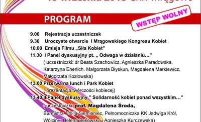 """I Mrągowski Kongres Kobiet: """"Solidarność kobiet ponad wszystkim"""""""