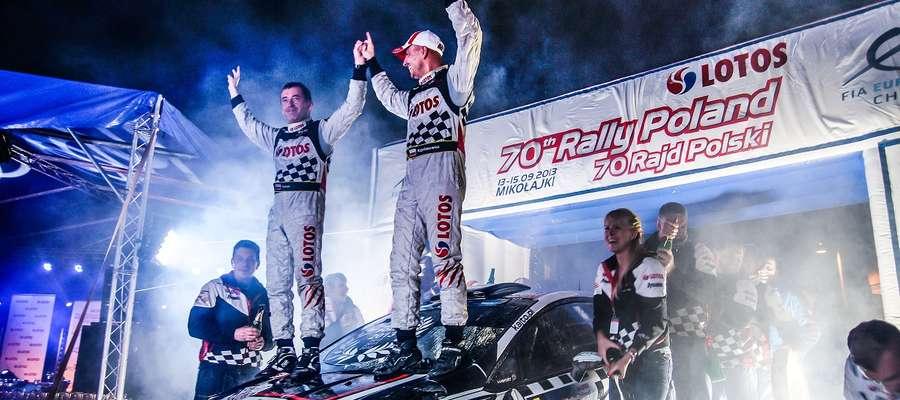 Debiutujący w Fordzie Fiesta R5 Kajetan Kajetanowicz i Jarosław Baran wygrali LOTOS 70. Rajd Polski